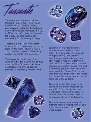 Painting - Tanzanite Brochure-inside by Thomas Lupari