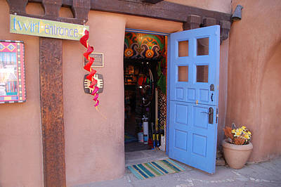 Photograph - Taos Blue Door by Kathleen Stephens