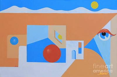 Mystic Desert Painting - Taos Perspective by Jean Clarke