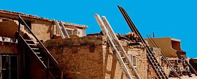 Photograph - Taos Pueblo Ladders by Jacqueline M Lewis