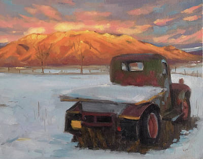 Painting - Taos Truck In The Snow by Elizabeth Jose