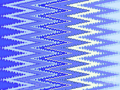 Tapestries - Textiles Digital Art - Tapestry In Blue Two by Ann Johndro-Collins