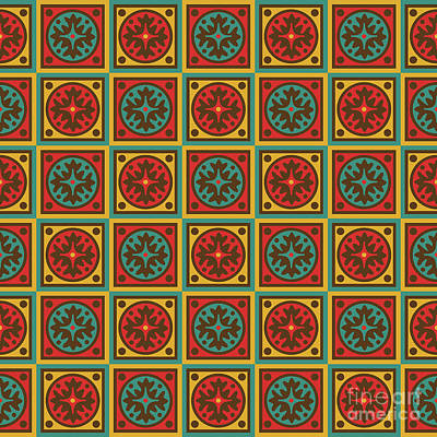 Quilted Tapestries Digital Art - Tapestry Pattern by Gaspar Avila