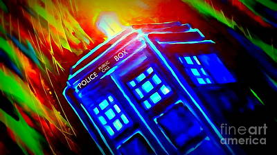 Tardis Watercolor Edition Art Print