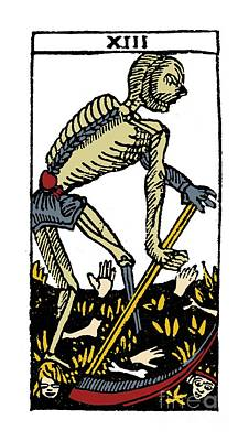 Photograph - Tarot Card Death by Granger