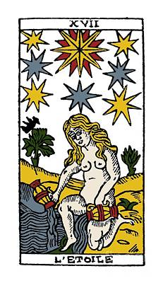 Photograph - Tarot Card The Stars by Granger
