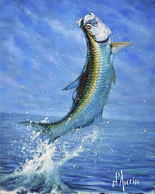 Sports Paintings - Tarpon by Tom Dauria