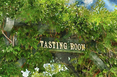 Photograph - Tasting Room Sign by Brandon Bourdages