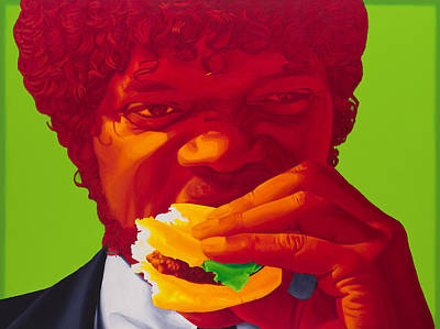 Tasty Burger Art Print by Ellen Patton