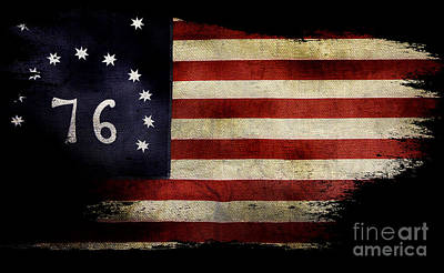 Bennington Photograph - Tattered Bennington Flag by Jon Neidert