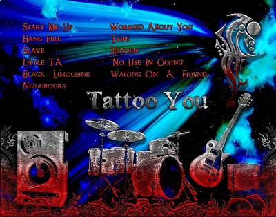 Digital Art - Tattoo You by Michael Damiani