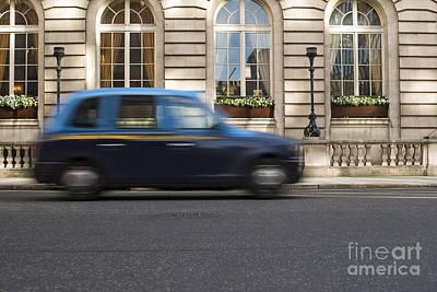 Speeding Taxi Photograph - Taxi In Motion In London by Deyan Georgiev