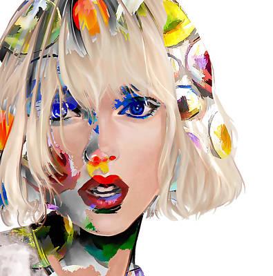 Taylor Swift Wall Art - Digital Art - Taylor Swift by Love Art