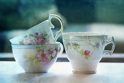 Tea For Three Art Print by Bonnie Bruno