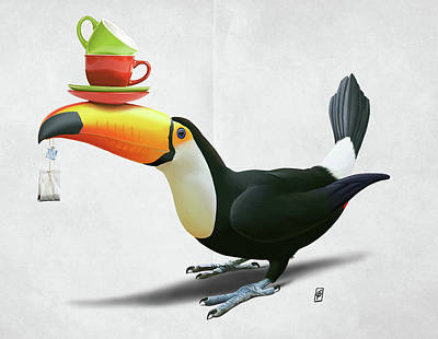 Digital Art - Tea For Tou Wordless by Rob Snow