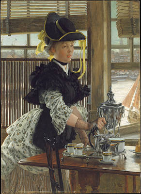 Painting - Tea by James Tissot