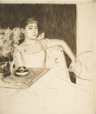 Relief - Tea by Mary Cassatt