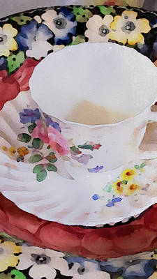 Tea Time Painting - Tea Time by Bonnie Bruno