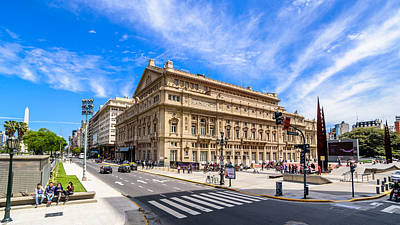 Photograph - Teatro Colon by Randy Scherkenbach