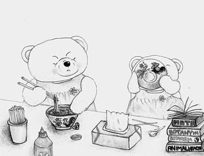 Teddy Bear Conversations Art Print