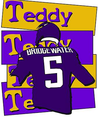 Photograph - Teddy Bridgewater by Kyle West