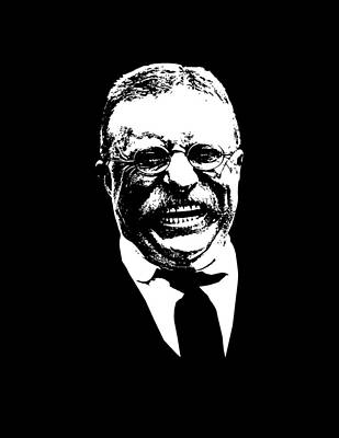 War Hero Digital Art - Teddy Roosevelt  by War Is Hell Store