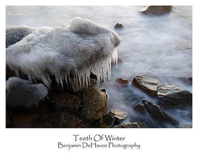 Chesapeake Bay Photograph - Teeth Of Winter by Benjamin DeHaven