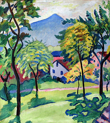 Painting - Tegernsee Landscape by August Macke