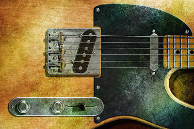 Digital Art - Telecaster by WB Johnston