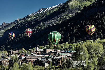 Photograph - Telluride Balloon Festival by Mountain Dreams