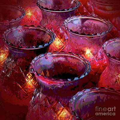 Photograph - Temple Candles by Cheryl Del Toro