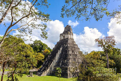 Tikal Photograph - Temple I Of The Jaguar - Mayan Ruins Of Tikal Guatemala by Matteo Colombo