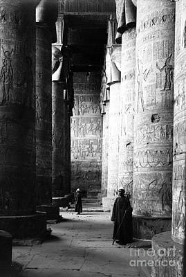 Hathor Photograph - Temple Of Hathor, Early 20th Century by Science Source