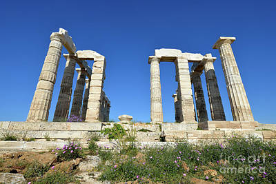 Springtime Photograph - Temple Of Poseidon by George Atsametakis