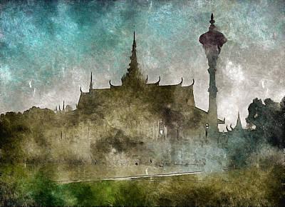 Digital Art - Temple Of The Buddha by Mario Carini