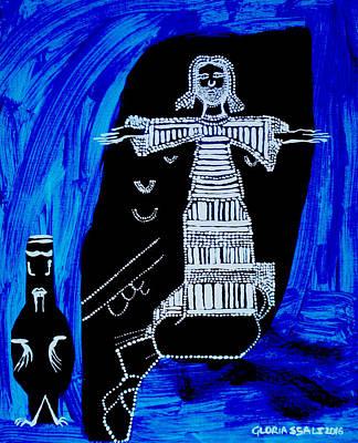 Temptation Of Jesus Art Print by Gloria Ssali