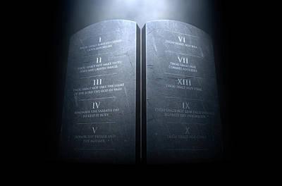 Testament Digital Art - Ten Commandments by Allan Swart