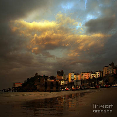 Tenby Art Print by Angel Ciesniarska