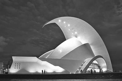 Photograph - Tenerife Auditorium At Night by Marek Stepan