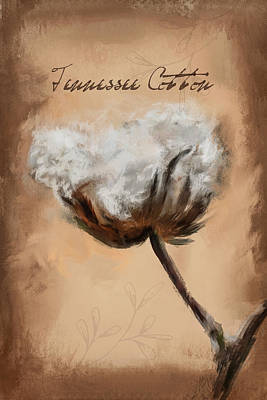 Tennessee Cotton Print by Jai Johnson