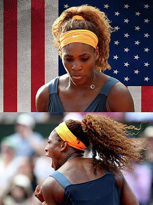 Serena Williams Photograph - Tennis Star Serena Williams  by Srdjan Petrovic