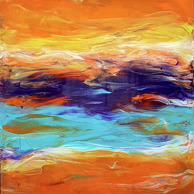 Painting - Tequila Sunrise by Jane Biven