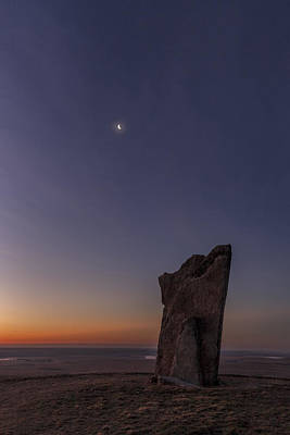 Photograph - Teter Rock And The Crescent Moon by Scott Bean
