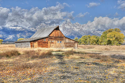 Photograph - Teton Barn by David Armstrong