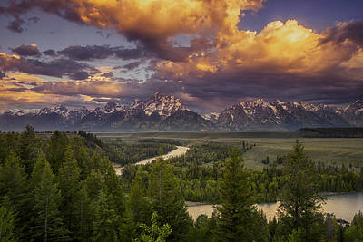 Clearing Photograph - Teton Cloudburst by Andrew Soundarajan