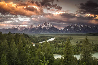 Cloudscape Photograph - Teton Drama by Andrew Soundarajan