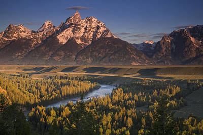 Teton Photograph - Teton Morning by Andrew Soundarajan