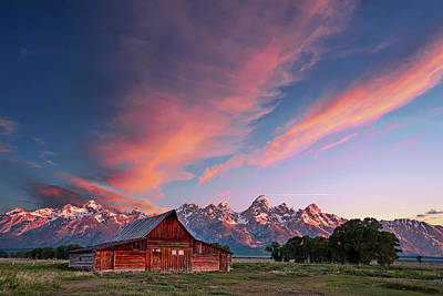 Photograph - Teton Sunrise by Jon Glaser