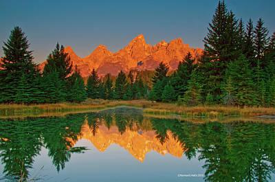 Photograph - Teton Sunrise by Norman Hall