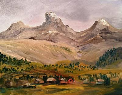 Painting - Tetons From The West by Larry Hamilton